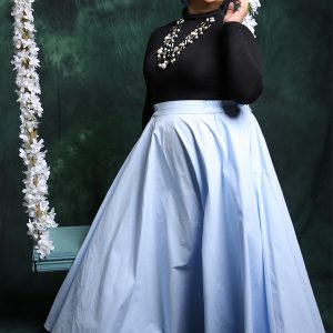 Flare Skirt in Blue
